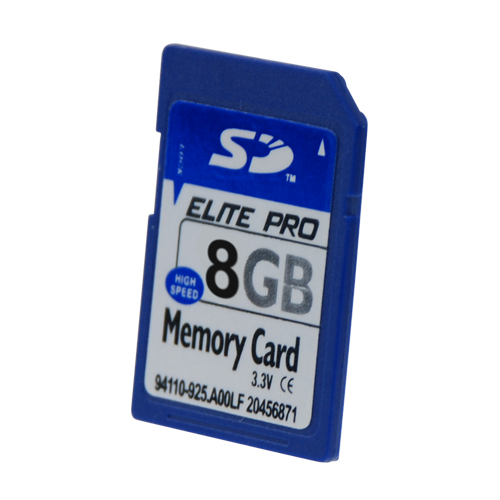 Carte mémoire SD 8GB Elite Pro pour 20€
